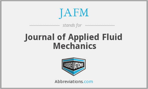 مجلة Journal of Applied Fluid Mechanics